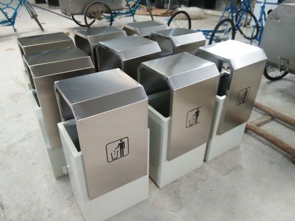 走进不锈钢垃圾桶激光加工
