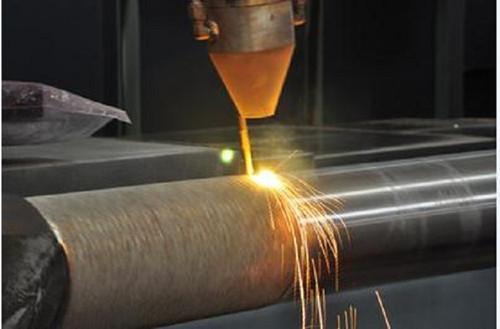 教学实验激光熔覆机修复零件的效果
